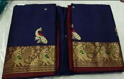 Wedding Wear Plain OSP Brand Handloom Pure Silk Saree, 6.3 m (with blouse piece)