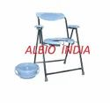 Albio Commode Chair Folding Invalid Oval With Pot & Handle