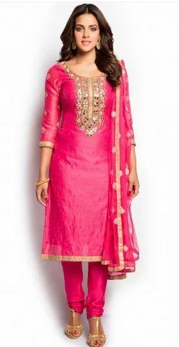 3f024b0a9d Pink And Gold Salwar Suit at Rs 5298 /piece   Salwar Suit, Women ...