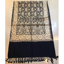 Black Embroidered Ladies Stole