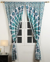 Cotton Mandala Printed Decorative Door and Window Curtain
