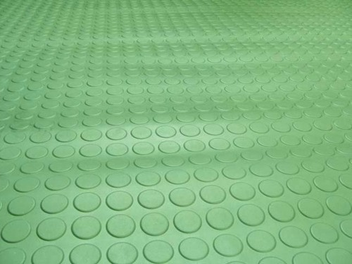 Circular Studded Rubber Flooring