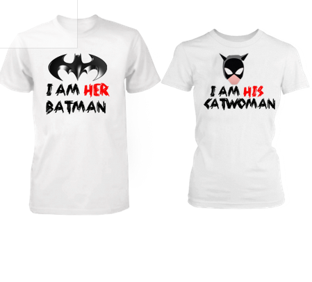 43ae85d00 Couple Tee I m Her Batman Cat Women T-shirts at Rs 699 /set | Roop ...