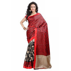 3fcb0316de Silk Striped Saree, Rs 450 /piece, Dataline Advertiser | ID: 18915237433