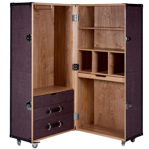 Teakwood Portable Wooden Wardrobe