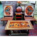 Rajasthani Chair with Table