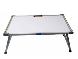 Ekta Product. White Laptop Metal Table with Whiteboard