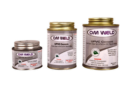 Om Weld Industrial Grade, Chemical Grade UPVC Pipes Adhesive Solutions, 10 ML-5L