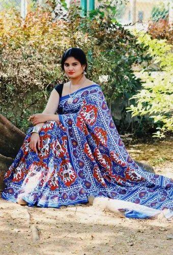 ed04dc0bced6e Chanderi Saree With Patola Print