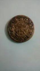 Gwalior Pav Anna 1896 Copper Coin