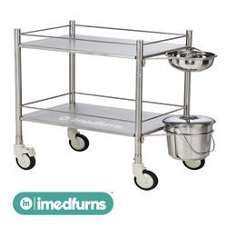 Dressing Trolley with Bowl and Bucket