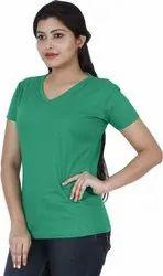 Stylish Looks Plain Cotton T Shirt
