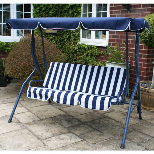 Blue Rattan Outdoor Swing 2 Seater Rs 7000 Piece Samridhi The