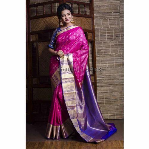 c321ab60bc1 Art Silk Kanjivaram Saree in Magenta at Rs 3998  piece