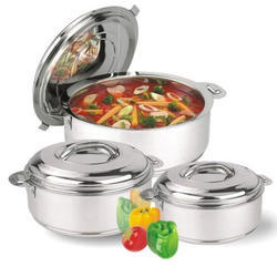 Ankur Stainless Steel Hot Pot, for Home and Hotel/Restaurant