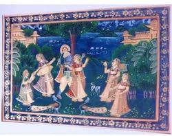 Painting Of Krishna In Raas Lila