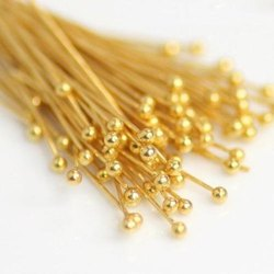 Gold Plated Head Pin