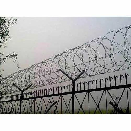 Galvanized Iron 610 Mm Concertina Wire, For Fencing