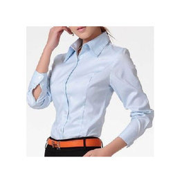 Cotton Plain Ladies Formal Shirt
