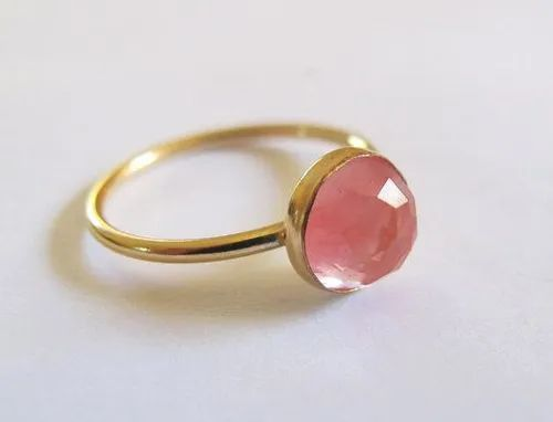 Cherry Quartz Gemstone ring