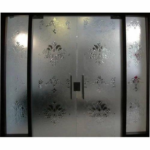 Decorative Etched Door Glass At Rs 500 Feet Door Glass Id