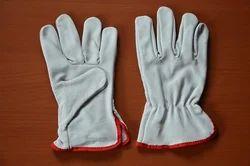 Unisex White Grain Driver /Rigger Glove
