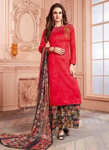 a5f5ad99c4 Red Kesari Exports Regular Wear Palazzo Salwar Suits, Rs 1390 /piece ...