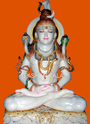 White Painted Marble Shiva Sculpture, For Worship, Size: 12 To 66 Inch
