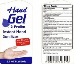 Hand Sanitizer Bottle Label