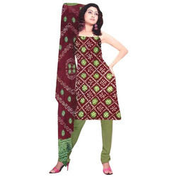 Cotton Ladies Bandhani Suit