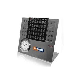 Steel Life Time Calender with Watch and Month Display