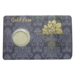Printed Gold Coin Packing Card