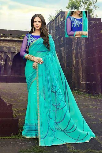 8bd7f18727 Multicolor Casual Wear, Party Wear Classic Printed Rajjo Net Designer Saree