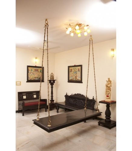 Beautiful Living Room Teak Wood Swing Jhula For Living