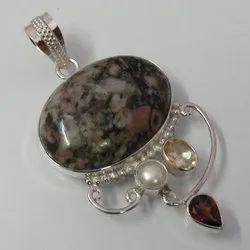 Agate Silver Pendants