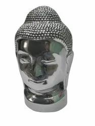 Metal Buddha Head Statue