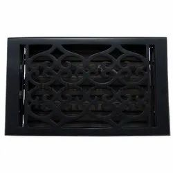 Flower Iron Wall Register with Louver - 6inch x 10inch (7-1/4inch x 11-1/2inch Overall)