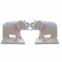 White Marble Elephant Statue