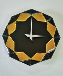 Mystique 8SBGT Glass Wall Clock