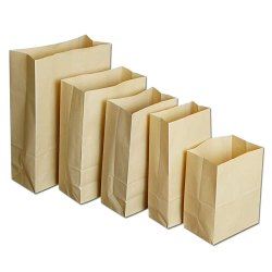 Brown Food Grade Plain Paper Pouch
