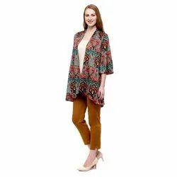 Casual Wear 3/4Th Sleeves Designer Printed Long Top