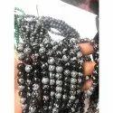 8 mm Round Snowflake Obsidian Bead