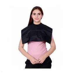 Polyester and Cotton Plain UB-CAPE-09 Black Short Cape Unisex