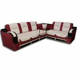Maroon And Cream Color Modern Corner Sofa Set for Home