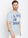 Half Sleeves Men Round Neck Printed T-Shirt