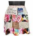 Printed Cotton Multi Patch Ladies Skirts