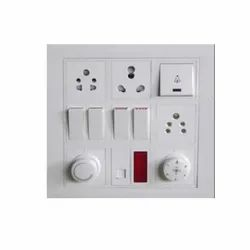 White 15 Amp Electric Modular Switch, for Home, 240 V