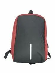 Double Zipper Red and Black Laptop Bag
