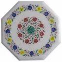 Malachite And Lapiz Mosaic Inlay Work Table Top