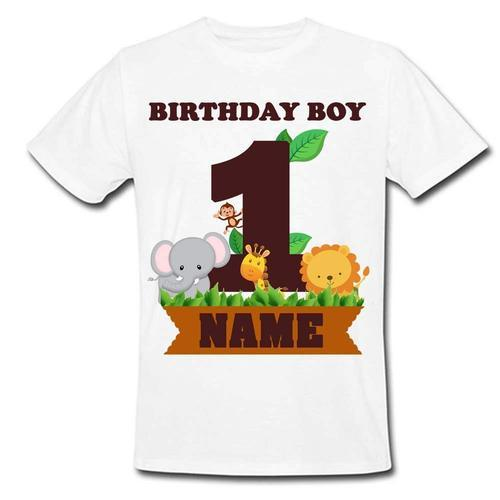 Polyester Women Sprinklecart Unique Design Jungle Themed Birthday Tee